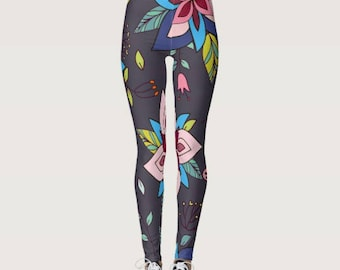 Divine Floral Boho Leggings
