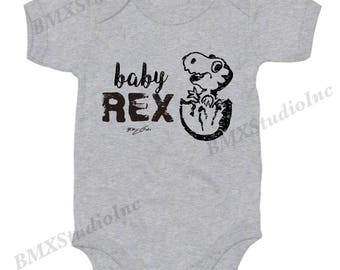 Baby Rex, Family Set Shirts, New Baby or Toddler, Fun Baby Onesies