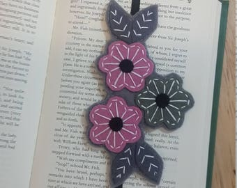 Bookmark, Unique bookmark, Stocking Stuffers, Felt bookmarks, Embroidered bookmarks, Bookmarks, Unique bookmarks, Student & Teacher gifts