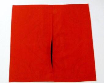 cojín de suelo rojo de 24 x 24 pulgadas cubiertas, Puf de piso, algodón, bordados de lentejuelas, adorno de elefante, India arte cojines, cojines de India, mirrorwork.