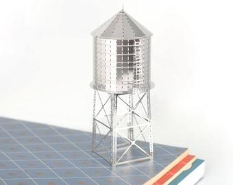 New York Water Tower model kit,  Iconic NYC skyline