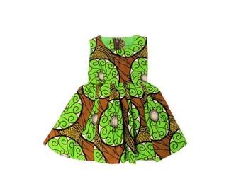 African Print Toddler Dress, Ankara Toddler Dress, Baby Girl Dress, Toddler Girl's Dress, Toddler Clothing, Ready to Ship, Baby Girl Dress