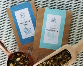 Tummy Soothing Brew teabelly Organic Artisan Herbal Tea Tisane Infusion