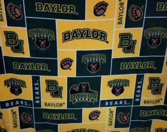 READY TO SHIP Baylor Bears Knotted Fleece Throw With Antipill Backing