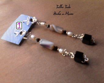 Silver tendrils and semi precious stones I