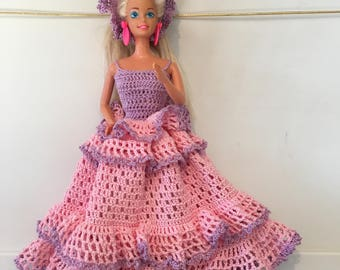 Crocheted Barbie dress