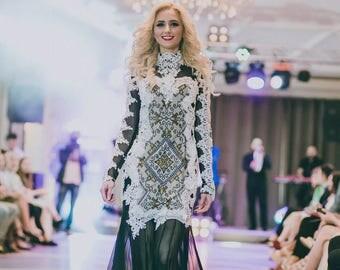 Emboidered dress, vyshyvanka dress, ukrainian dress, ukrainian style, ukrainian fashion, hand embroidery, boho style, prom dress
