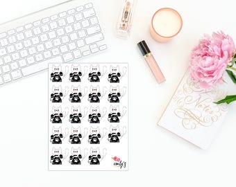 Lilly The Cat- Phone | Erin Condren, Personal Size  Planner Stickers