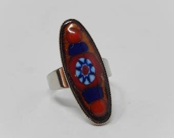 Ring millefiori, Italy, adjustable, free delivery!