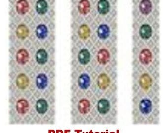 Beading LoPattern Bracelet «Twinkle» Beading Tutorial Instant Download