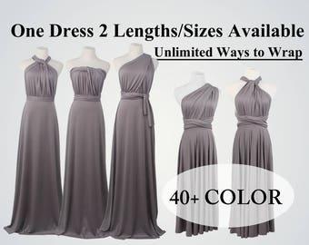 Dark Grey Bridesmaid Dress Long, maxi dress, homecoming dress, infinity dress, casual dress, short dress, velvet dress, maternity dress