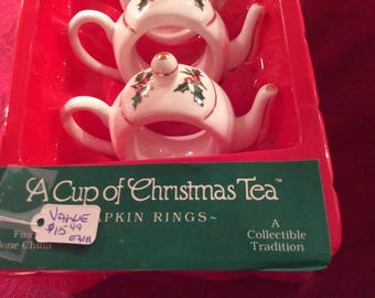A Cup Of Christmas Napkin Rings