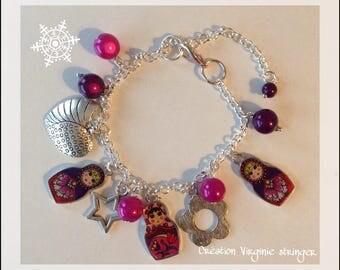 Russian doll charm bracelet.