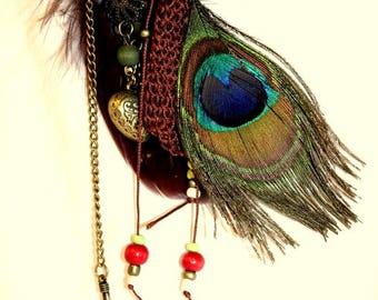 Gypsy Peacock necklace