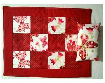 Doll Quilt & Pillow Set