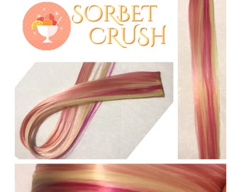 """SORBET CRUSH 18"""" Set Clip-In Hair Extensions - 4 PIECES!"""