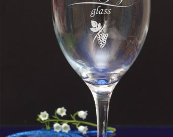 Personalised engraved Pinot Grigio wine glass.Birthday gift, present. byjevge/63