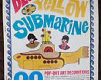 The Beatles Original Yellow Submarine Pop-Out Art