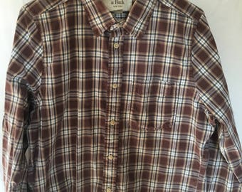Vintage 90's XL mens plaid Abercrombie and Fitch long sleeve button down shirt