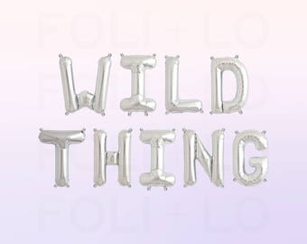 """WILD THING Letter Balloons 