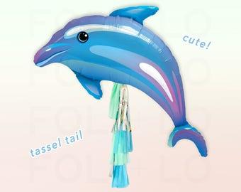 "42"" DOLPHIN BALLOON | Blue Dolphin Balloon | Animal Party Theme | Dolphin Theme | Dolphin Party Decoration | Blue Balloon | Blue Party Theme"