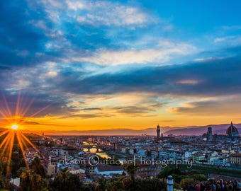 Florence Italy / Wall Art / Ponte Vecchio / The Duomo / Palazzo Vecchio / The Arno / Piazzale Michelangelo / Photography