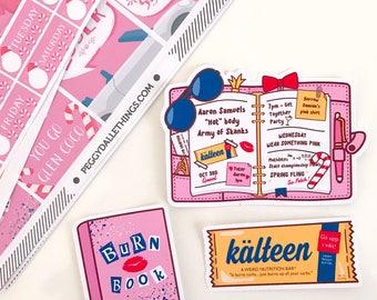 Mean Girls Stickers | Mean Girls Die cuts | Planner Die Cuts | Burn Book