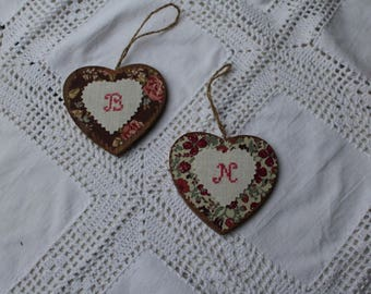 heart appliqué patchwork pink wooden old liberty sold choice has unit