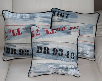 Sold individually 50/50 INDUS pillow cover / Navy