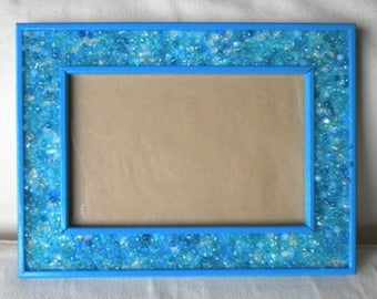 Frame with turquoise beads