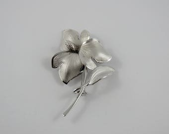 Sterling Silver Bond Boyd Flower Brooch