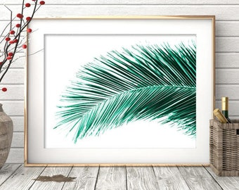 Printable Art Palm Leaf Print Palm Leaves Palm Print Tropical Leaf Palm Art Tropical Print Plant Print Printable Art Print Download
