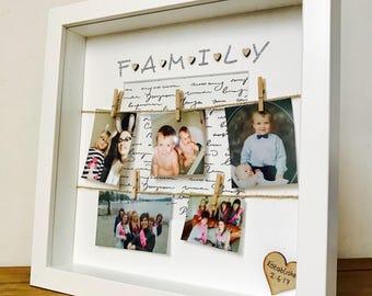 Family Frame, Personalised Family Photo Frame, Family Box Frame, Best Family Gift, Family Gift Frame, Gift for Families, Family Box Frame