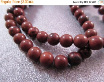 ON SALE 15% OFF Mahogany Obsidian Round 6mm Beads 70pcs
