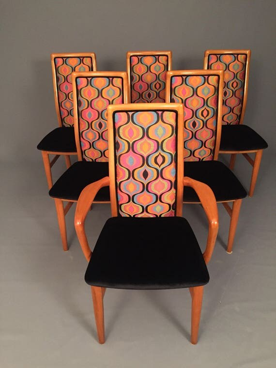 Mid-Century Danish set Of 6 SCHOU ANDERSON dinning chairs.