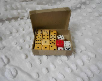 Vintage Set of Dice - Vintage Games - Mis Matched Dice  - Ready to Ship