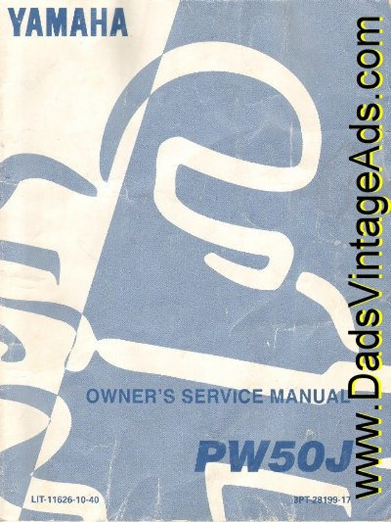 1996 Yamaha PW50J Owner's Service Manual #mm21