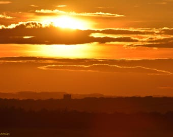 Sunset, Wiltshire sunset, landscape, original photograph