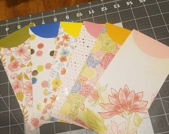 Watercolor Cash Envelopes