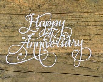Happy anniversary, paper cut, anniversary gift, wedding anniversary, crafty hana, celebration, gift idea, marriage, gift for her
