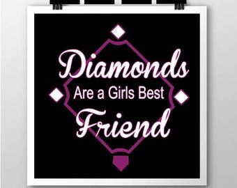Diamonds are a Girls Best Friend SVG