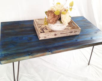 Custom Reclaimed Wood Coffee table with HairPin Legs