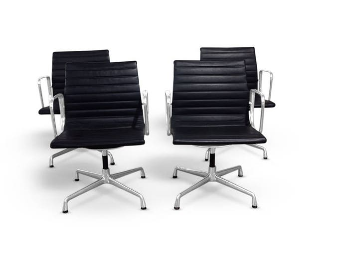 Eames Aluminium Group Management Chair by Herman Miller (SET OF 4)