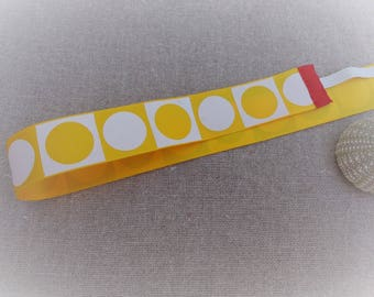 Hairband headband Parisian headband yellow headband child headband graphic yellow and white 51.8 cm