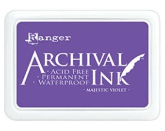 Ranger Archival Ink Majestic Violet - Purple Ink - Archive Ink - Purple Archive Ink - Ranger Purple Ink - Permanent Purple Ink - Waterproof