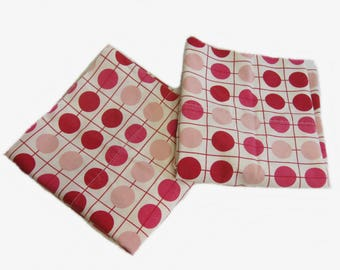 Get It Together Pink White  Polka Dot Standard Pillow Case, Vintage Pillowcases