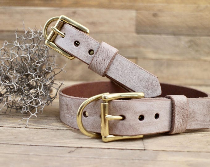Handmade collar, Leather dog collar, FREE ID TAG, Custom leather collar, Foggy collar, Collar, Solid brass hardware, Sturdy collar, Gift.