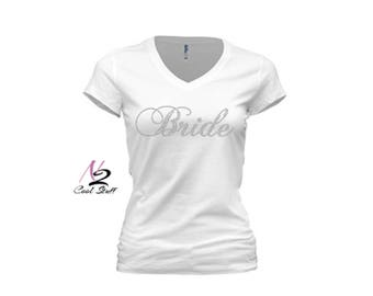 Rhinestone Bride shirts Bridesmaid shirts wedding shirts