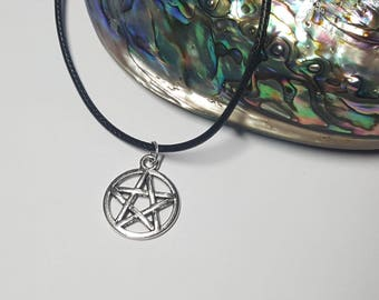 Pagan Necklace, Witch Necklace, Pentagram Necklace, Silver Necklace, Star Necklace, Pentagram Pendant, Pentagram Jewelry, Pentagram, Pagan