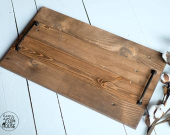 Rustic Wood Serving Tray | Decorative Tray | Farmhouse Tray | Distressed Wood Tray | Rustic Home Decor | Wedding Gift